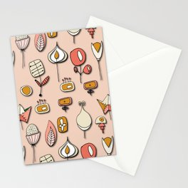 Retro Paper Flower Soft Pink Stationery Cards
