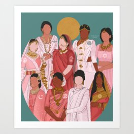 South Asian Religions Art Print