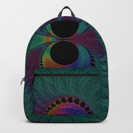 Peacock Feathers Eyes Fractal Abstract Backpack