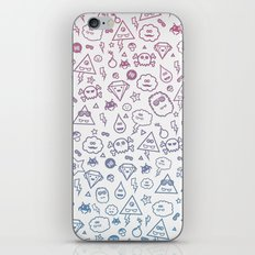 Cute & Sweet Monsters / Funny Clouds and Diamonds iPhone & iPod Skin