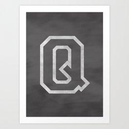 Letter Q Art Print