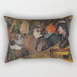 """Henri de Toulouse-Lautrec """"Ball at the Moulin de la Galette"""" Rectangular Pillow"""