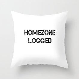 Homezone logged Throw Pillow