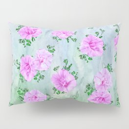 Pink Petunas over Blue Sky Pillow Sham