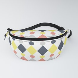 Rhombus and circle pattern Fanny Pack