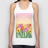tulips Tank Tops featuring Tulips by Julia Badeeva