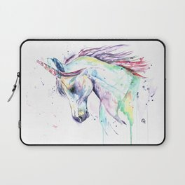 Colorful Unicorn Watercolor Painting - Kenzie's Unicorn Laptop Sleeve