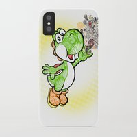 yoshi iPhone & iPod Cases featuring Yoshi Wonderland !  by Art & Be