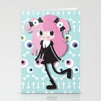 goth Stationery Cards featuring Pastel Goth by Irene Dose