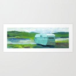 MINT CAMPER Art Print