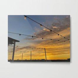 Rooftop Sunset (2) Metal Print
