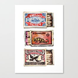 Matchboxes Canvas Print