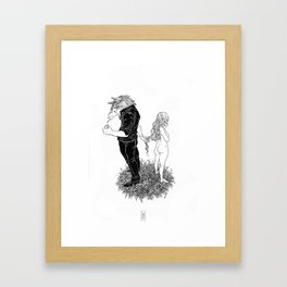 Beware of the Wolf Framed Art Print