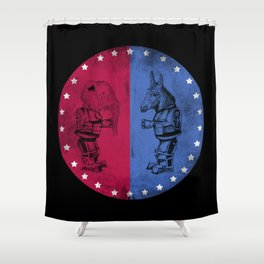 Election Cycle Shower Curtain