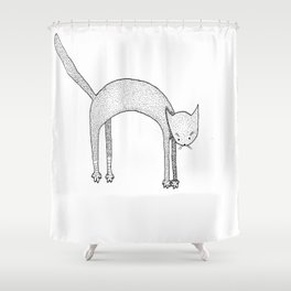 Leaping Cat Shower Curtain