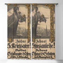 Vintage First World War Poster - Austria-Hungary 5th War Loan (1916) Blackout Curtain