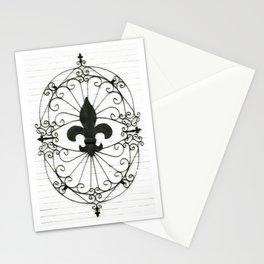Wrought Iron Fleur de Lis Stationery Cards