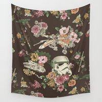 star Wall Tapestries featuring Botanic Wars by Josh Ln