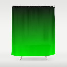 Black and Lime Gradient Shower Curtain