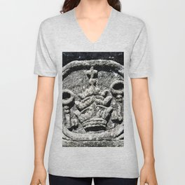 Ancient Church Carvings Unisex V-Neck