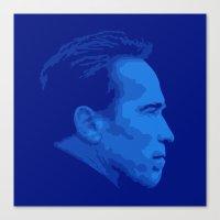 arnold Canvas Prints featuring Arnold Schwarzenegger by Vector Vectoria