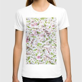 Leaves and flowers pattern (26) T-shirt