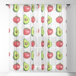 Guacamole Salad Sheer Curtain
