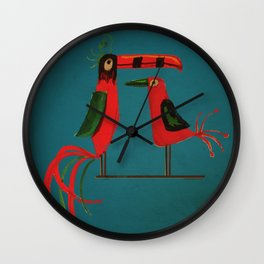 Tiki Bird Wall Clock