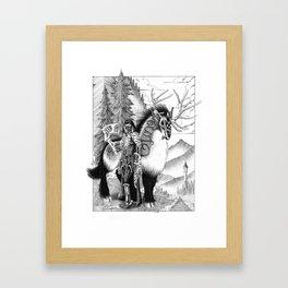Thunder Rider Framed Art Print