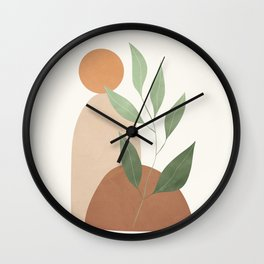 Abstract Rock Geometry 05 Wall Clock