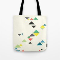 triangles Tote Bags featuring Triangles by Cassia Beck