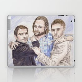 Team Free Will: Misha Collins; Jared Padalecki and Jensen Ackles, watercolor painting Laptop & iPad Skin
