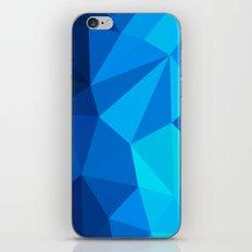Geometric blue whale iPhone & iPod Skin