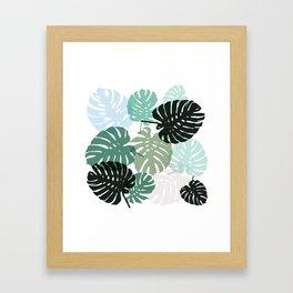Tropical Monstera - green Framed Art Print
