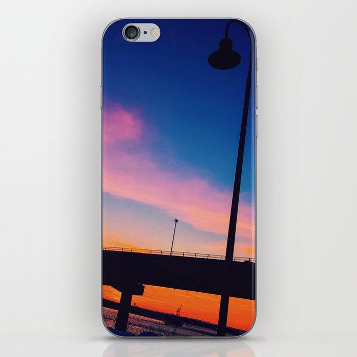 Casco Bay Bridge Sunset Silhouette iPhone Skin