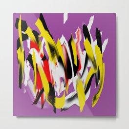Turb violet multicolor Metal Print