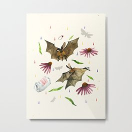 Rain Bats Metal Print