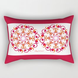Grace Mandala x 2 - Red White Rectangular Pillow