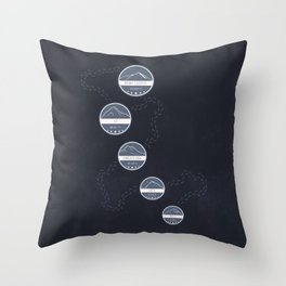 Highest Mountains on Earth Throw Pillow