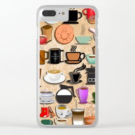 Coffee Mugs, Cups and Makers Clear iPhone Case
