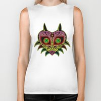 majoras mask Biker Tanks featuring Sugarskull / Majoras mask /color by tshirtsz