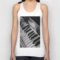 piano Tank Tops featuring Piano by Renny Hendra