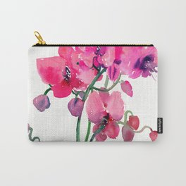 Pink Orchids, orchi design floral bright pink Carry-All Pouch