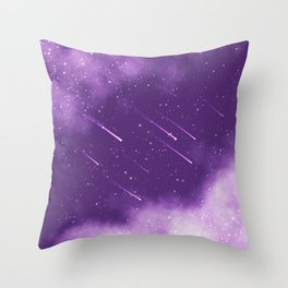 Meteors Throw Pillow