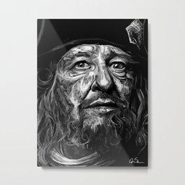 Captian Barbossa Metal Print
