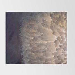 Soft light through the feathers Throw Blanket