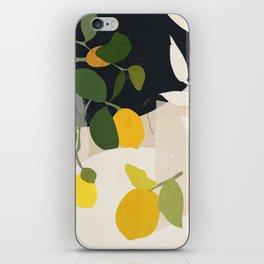 Lemon Abstract Art iPhone Skin