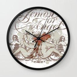 Demon or angel Wall Clock