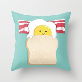 Morning Breakfast Throw Pillow