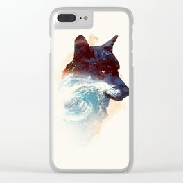 Night swim Clear iPhone Case